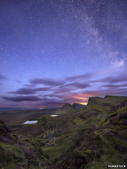 Night sky over Skye