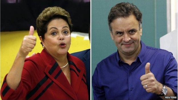 Brazil votes in presidential run-off...
