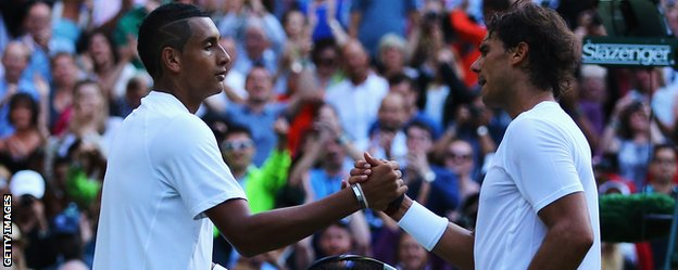 Rafael Nadal and Nick Kyrgios