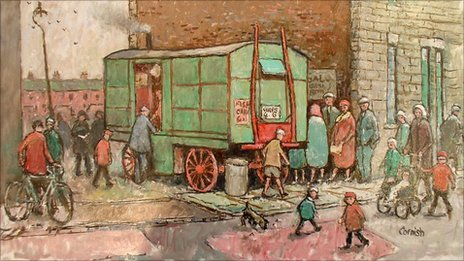 Mobile Fish Shop by Norman Cornish