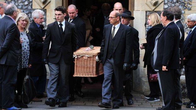 Lynsey de Paul's funeral