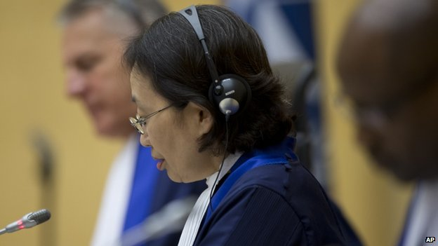 Presiding judge Kuniko Ozaki from Japan. 8 Oct 2014