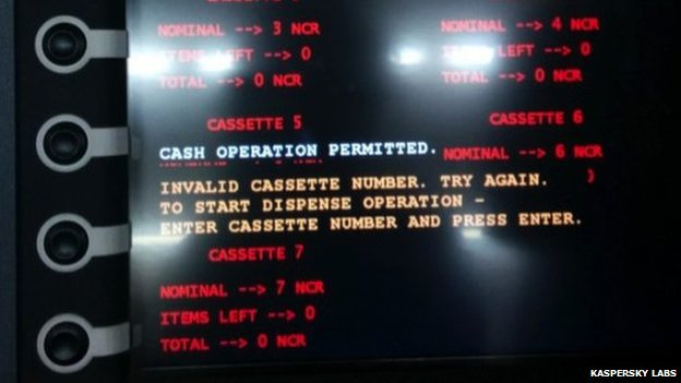 Cash machine hack