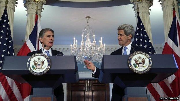 Philip Hammond and John Kerry