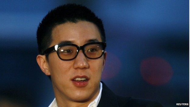Hong Kong actor Jaycee Chan arrives at the Hong Kong Film Awards in this 19 April 2009 file photo.