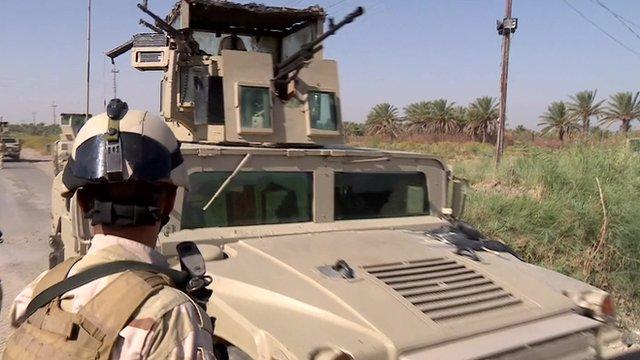 Iraqi army Humvee