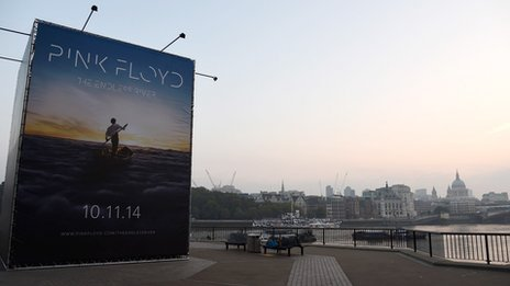 Pink Floyd reveal album details and artwork for new album The Endless River on London's South Bank