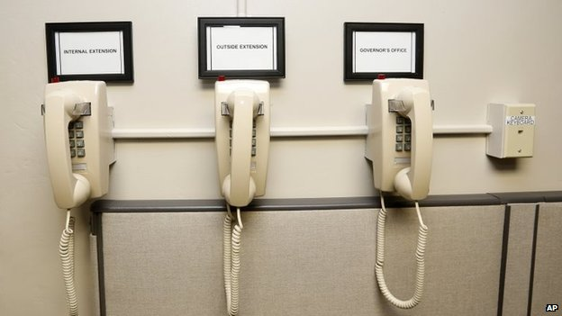 Telephones in the Oklahoma death chamber