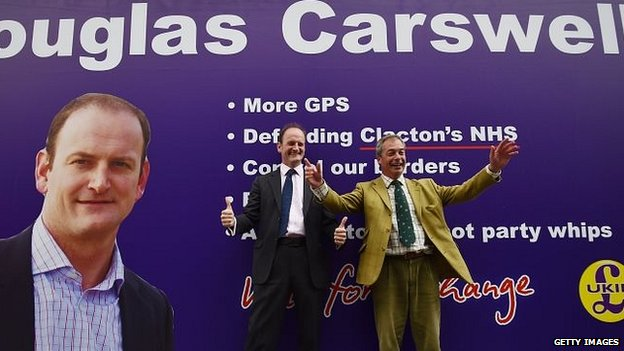 Douglas Carswell and Nigel Farage campaigning in Clacton