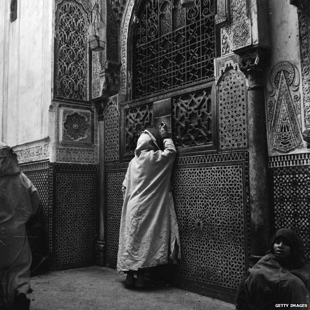 Moulay Idris Mosque in Fez, circa 1950
