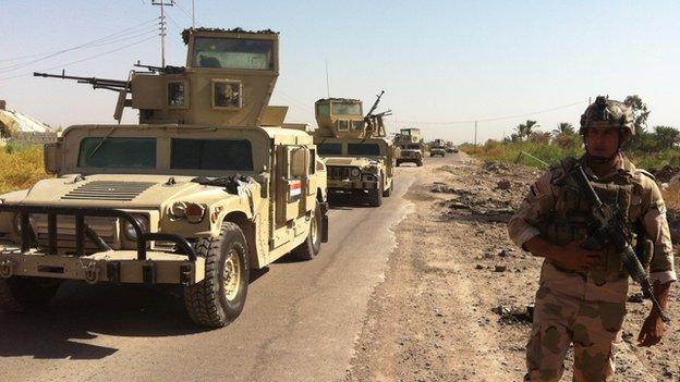 Iraqi military convoy