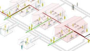 Ebola treatment centre graphic