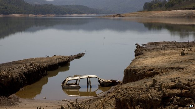 Atibainha dam which provides water to greater Sao Paulo 10 Oct 2014