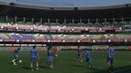 Mumbai City warm-up session