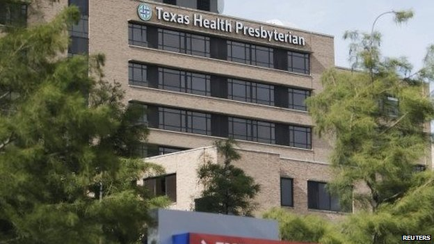 Texas hospital where Ebola victim Thomas Duncan died, 9 October 2014