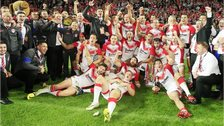 St Helens celebrate their success
