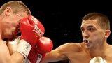 Lee Selby (left) fighting Joel Brunker