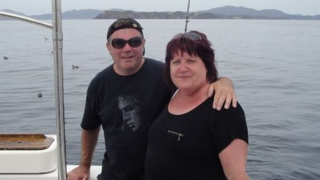 Pat and Rob on their first holiday for ten years