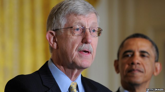 NIH Director Francis Collins speaks at the White House.