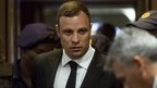Oscar Pistorius arrives in court in Pretoria to hear the pre-sentencing arguments - 13 October 2014
