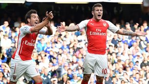Arsenal celebrating
