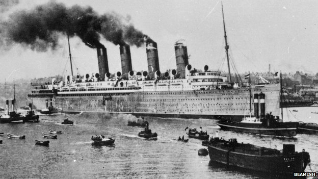 Launch of RMS Mauretania