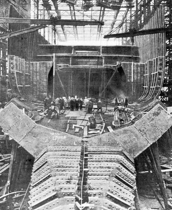 Construction of RMS Mauretania