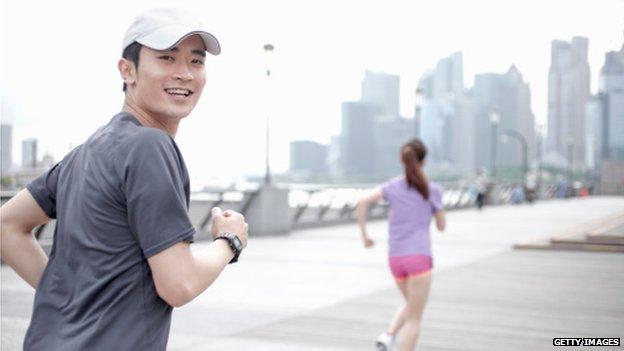 People running in Shanghai