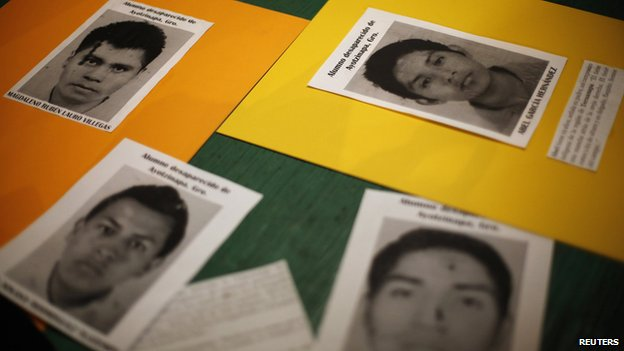 Pictures of Raul Isidro Burgos students, who have been missing since last month's deadly clashes