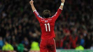 Gareth Bale celebrating
