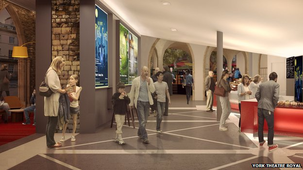 Foyer Area News : Bbc news archaeological finds delay york theatre royal work