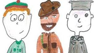 Drawings by Reay schoolchildren