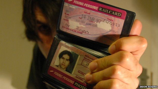 Jason Rogers holding his Young Person's Railcard
