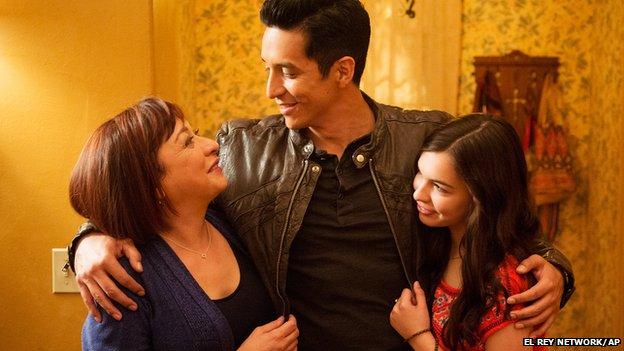 Elizabeth Pena, Gabriel Luna and Isabella Gomez in Matador