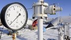 Gas pressure gauge at zero near Kiev in January 2009