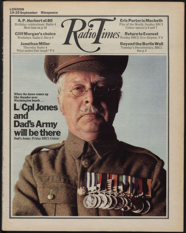 Radio Times cover showing image from Dad's Army