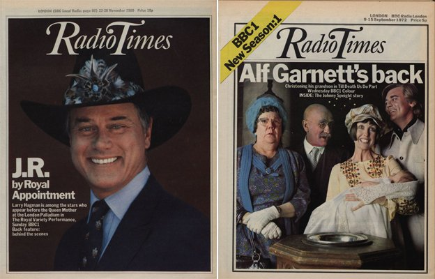 Two Radio Times covers