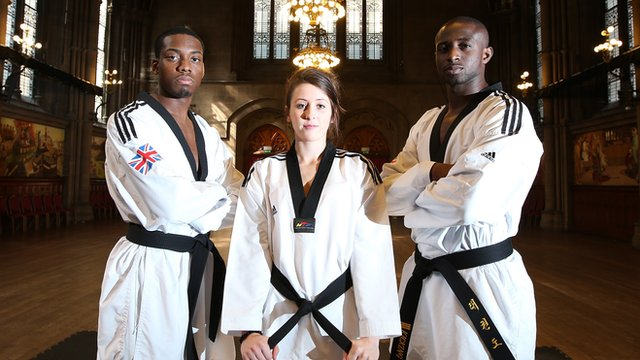 GB's Jade Jones, Lutalo Muhammad and Mahama Cho