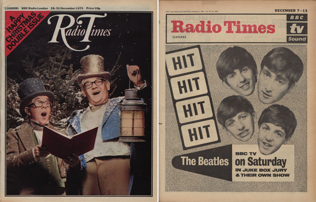 Radio Times covers showing the Two Ronnies and the Beatles