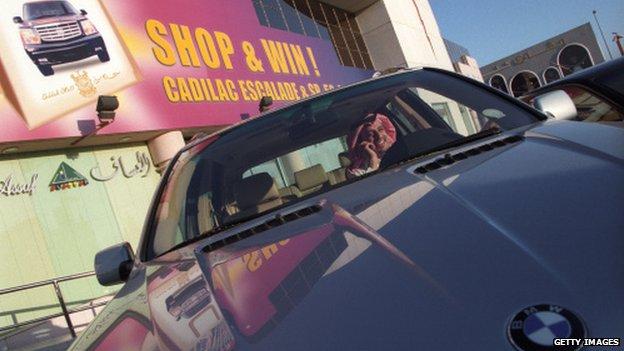 BMW driver in Jeddah