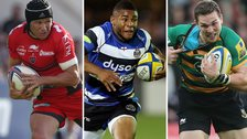 (left to right) Matt Giteau, Kyle Eastmond and George North