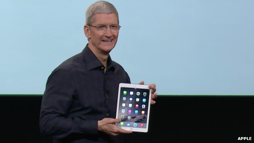 Tim Cook with iPad Air 2
