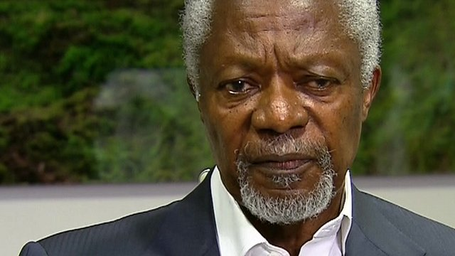 Kofi Annan in Newsnight interview