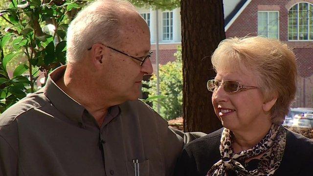 US Ebola survivor Nancy Writebol and her husband David