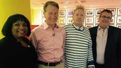 Diane Abbott, Michael Portillo, John Lydon and Jon Gaunt