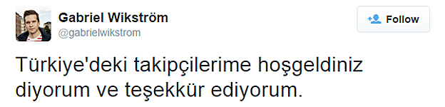 Tweet in Turkish by Gabriel Wikstrom