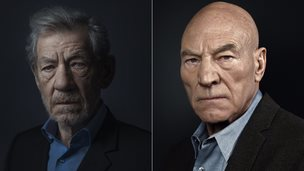 Sir Ian McKellan and Sir Patrick Stewart