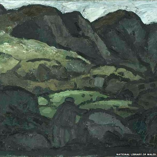 Landscape At Llanaelhaearn by Sir Kyffin Williams