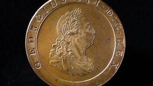 Boulton's Cartwheel coin