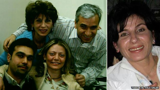 Samira al-Khalil and her colleagues with husband Yassin
